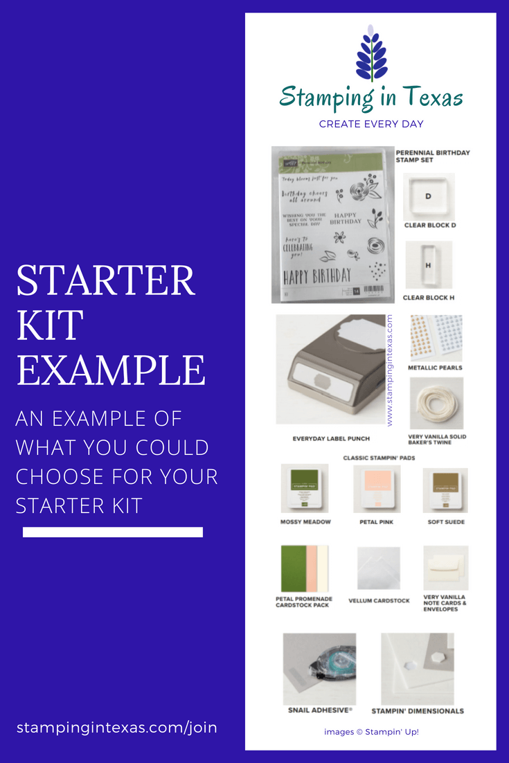 Stamping in Texas suggested starter kit items