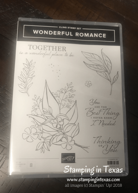 Stampin' Up! Wonderful Romance Stamp Set. Occasions 2019 catalog. OnStage 2018