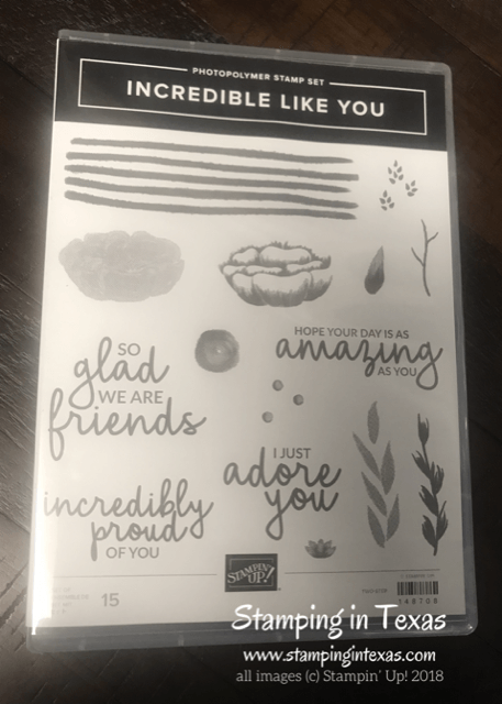 Stampin' Up! Incredible You Stamp Set. Occasions 2019 Catalog. Stampin' Up! OnStage 2018