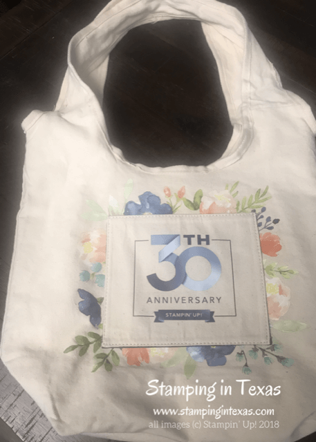 Stampin' Up! Onstage 2018 30th Anniversary Attendee Bag