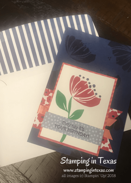 Card and Envelope make and take using the Stampin' Up! Bloom by Bloom Stamp Set. Stampin' Up! OnStage 2018
