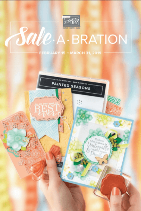 2019 Sale-a-Bration Second Release Brochure Cover.  Items available February 1- March 31, 2019